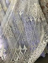 Тюль фатин (крем с золотом) СВК301, фото 3