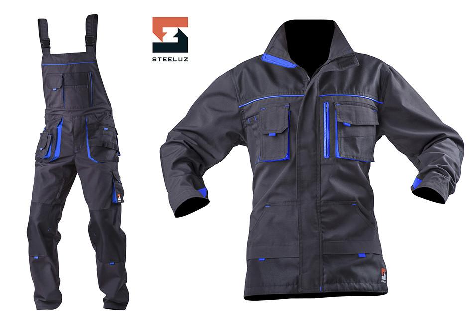 Костюм рабочий SteelUZ куртка и полукомбинезон, синяя отделка