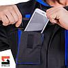 Костюм рабочий SteelUZ куртка и полукомбинезон, синяя отделка, фото 6