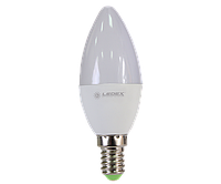Cветодиодная лампа  Ledex  Ledex  C37-6W-E14-570lm-4000К-(LX-101744)
