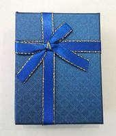 Коробочка подарункова з синім бантиком 7 см * 9 см., фото 1