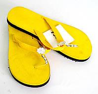 Шлепанцы пляжные женские OK-7330 (желтый)