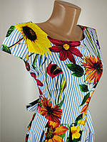 Женское платье летнее с цветами