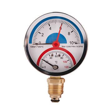 SD Термоманометр нижн. подкл.1/2 Ø80мм 120ºC 10 бар   SD17210B