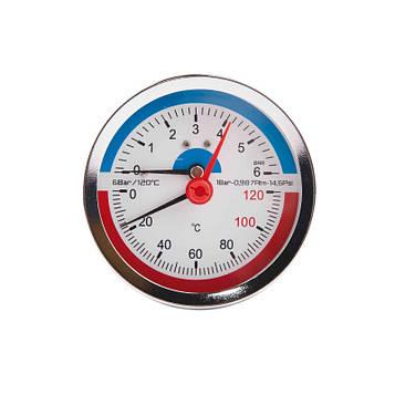 SD Термоманометр задн. подкл. 1/2 Ø80мм 120ºC 6 бар   SD1736B