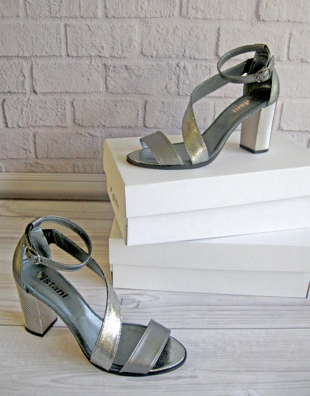 Жіночі босоніжки на підборах. Взуття Vistani.