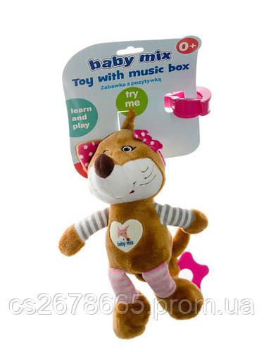Подвеска музыкальная Лисичка розовая 7508 Baby Mix