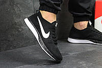 Кроссовки мужские Nike Flyknit Racer (черно-белые), ТОП-реплика, фото 1