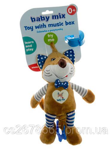 Подвеска музыкальная Лисичка синяя 1758 Baby Mix
