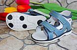 Дитячі шкіряні босоніжки для хлопчика, фото 2