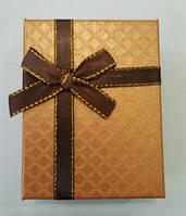 Коробочка подарункова з коричневим бантиком 7 см * 9 см., фото 1