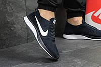 Кроссовки мужские Nike Flyknit Racer летние удобные текстильные легкие кросовки в стиле найк сине белые