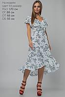 Белое платье с воланами, фото 1