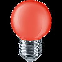 Лампа Navigator 71827 NLL-G45-1-230-R-E27 світлодіодна,кулька червона,1W,