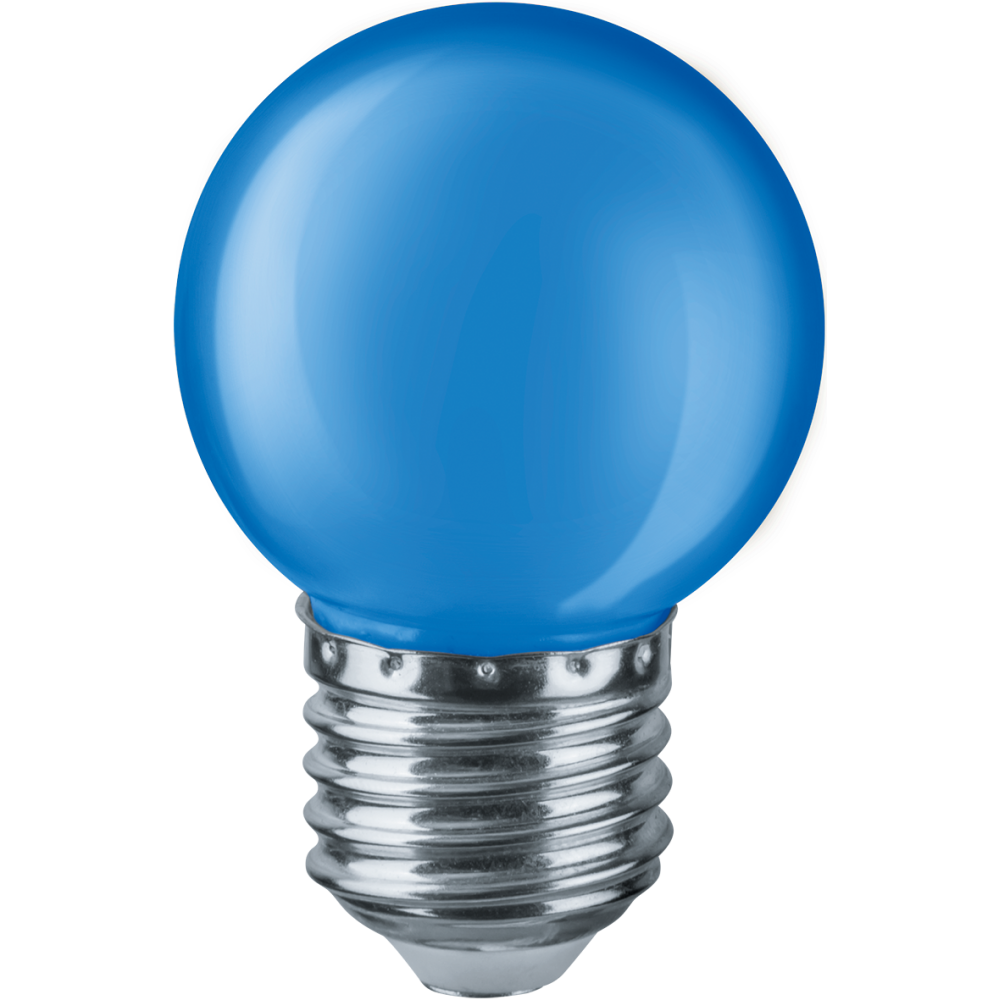 Лампа Navigator 71829 NLL-G45-1-230-B-E27 світлодіодна,кулька голуба,1W,