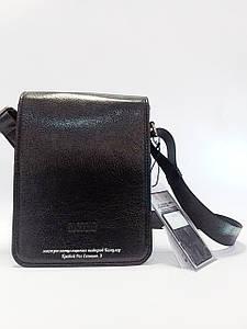 Барсетка сумка наплечная выполненная из натуральной кожи