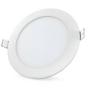 Светодиодная панель SL15L 15W 6500K  круг белый Код.59278