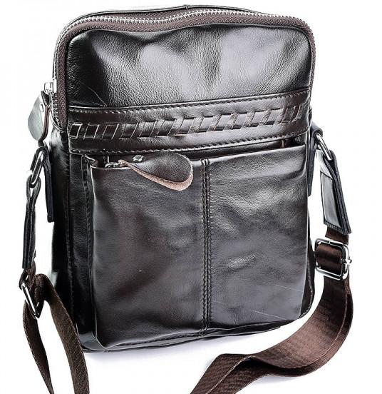 5911293c842f Мужская кожаная сумка 9101 Coffee.Купить сумки оптом и в розницу дёшево в  Украине