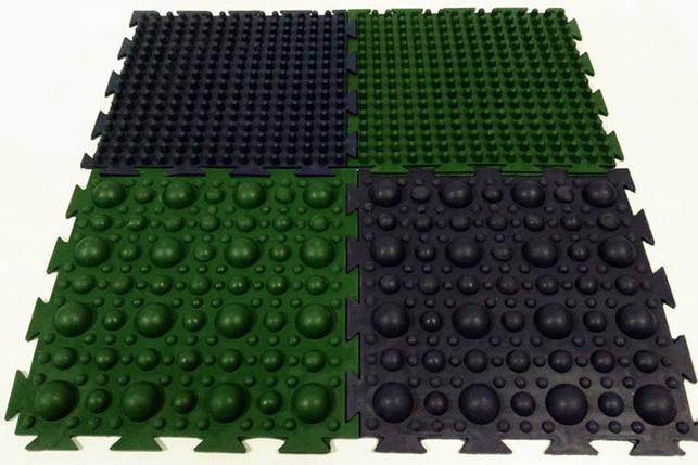 Коврик от плоскостопия массажный «Пазлы-4» (резиновый) 4 элемента, фото 2