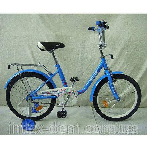 """Детский двухколесный велосипед Profi Flower 18"""" Голубой (L1884)"""