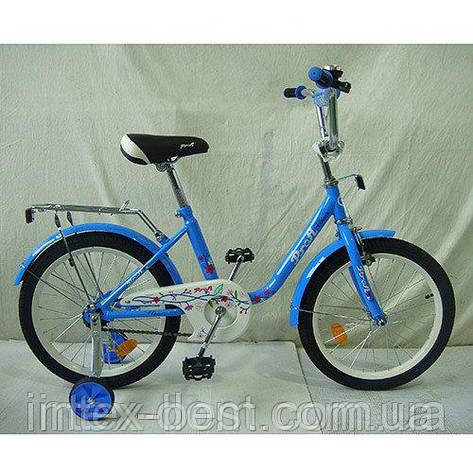"""Детский двухколесный велосипед Profi Flower 18"""" Голубой (L1884), фото 2"""