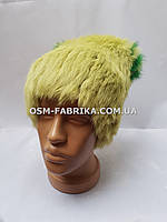 Модная женская меховая шапка кролик оптом и в розницу, фото 1
