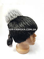 Женская меховая шапка кролик высокого качества, фото 1