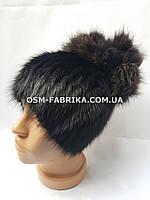 Стильная шапка из меха нутрии хит продаж, фото 1