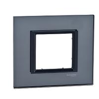 Рамка Черное стекло Unica Class Schneider, MGU68.002.7A2