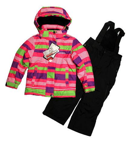 Термокомбінезон зимовий для дівчинки 3-х років HIGH EXPERIENCE в смужку, фото 2