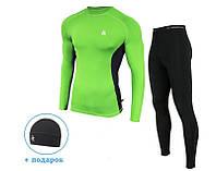 Мужской спортивный костюм для бега Radical Intensive(original) компрессионная спортивная одежда,тайтсы+рашгард