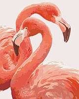 Картина по номерам - Грация фламинго