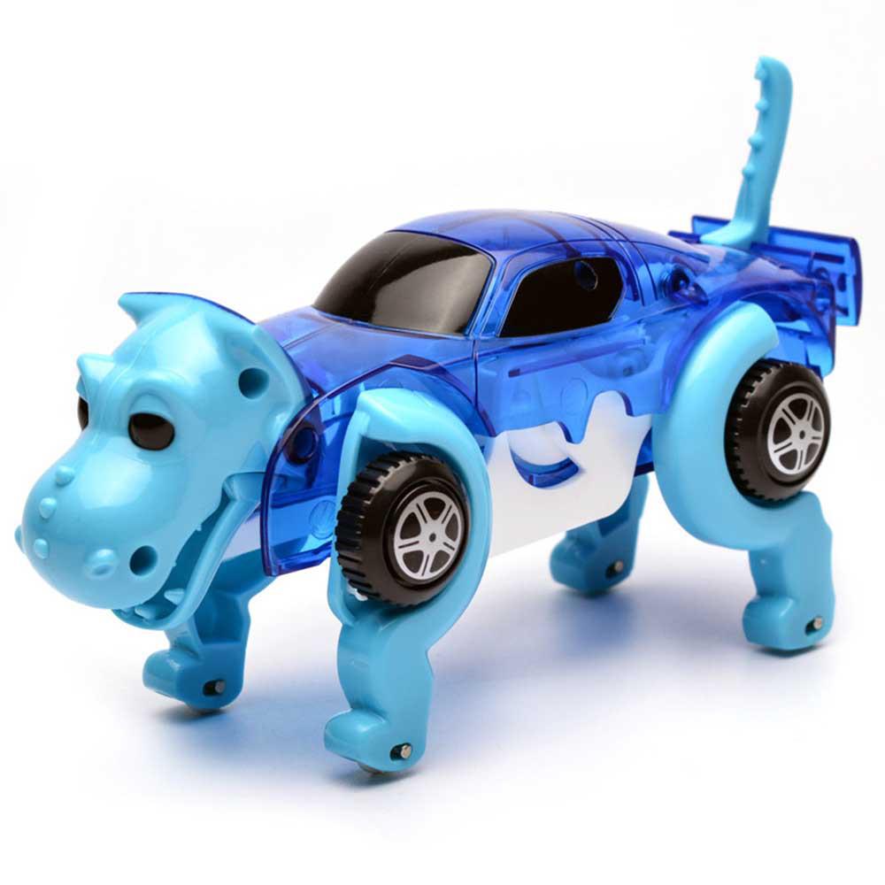 Детская игрушка JIA DU TOYS  Dino Car заводная машина-трансформер Динозавр Синий (SUN0726)