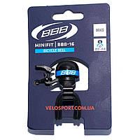 """Велосипедный звонок BBB-16 """"MiniFit"""" черно-синий"""