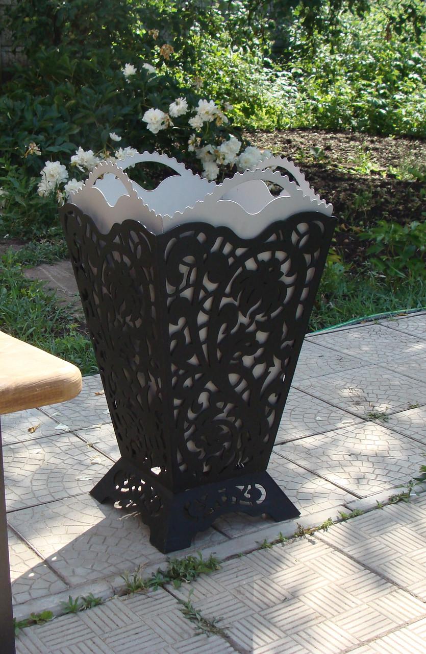 Урна садовая декоративная из металла