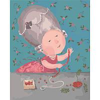 Картина по номерам Гапчинская - Мои любимые бусики KNG003