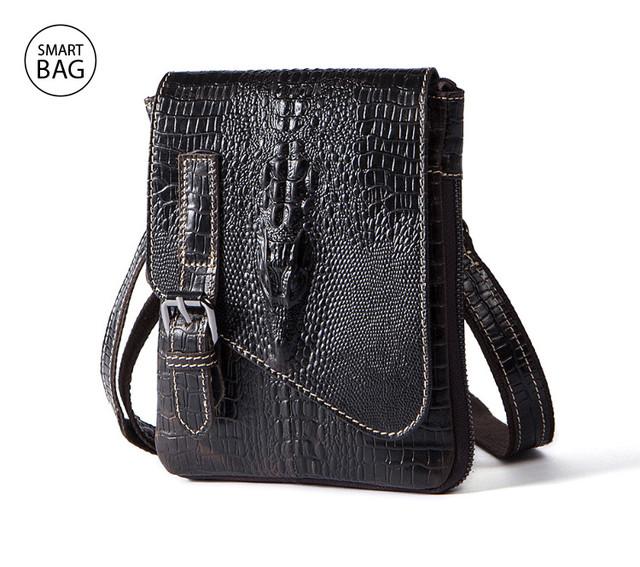 Небольшая кожаная сумка на плечо Marrant | черная