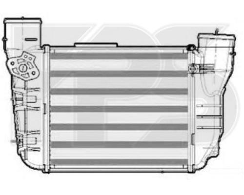 Интеркулер Audi A4 B6 (01-04) 1.8 T 20v BEX (слева)