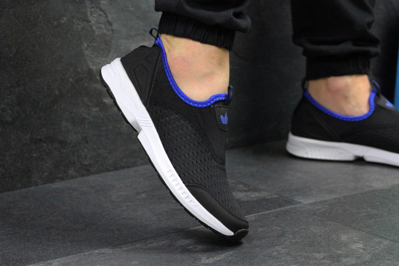 Кроссовки мужские Adidas (черно-белые), ТОП-реплика