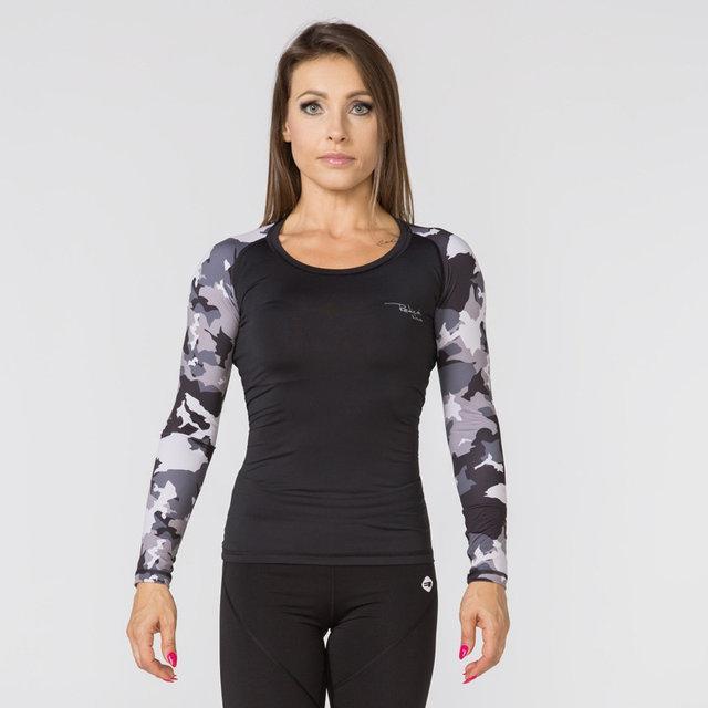Спортивная женская кофта Radical Furious Army Lady LS black, женский рашгард