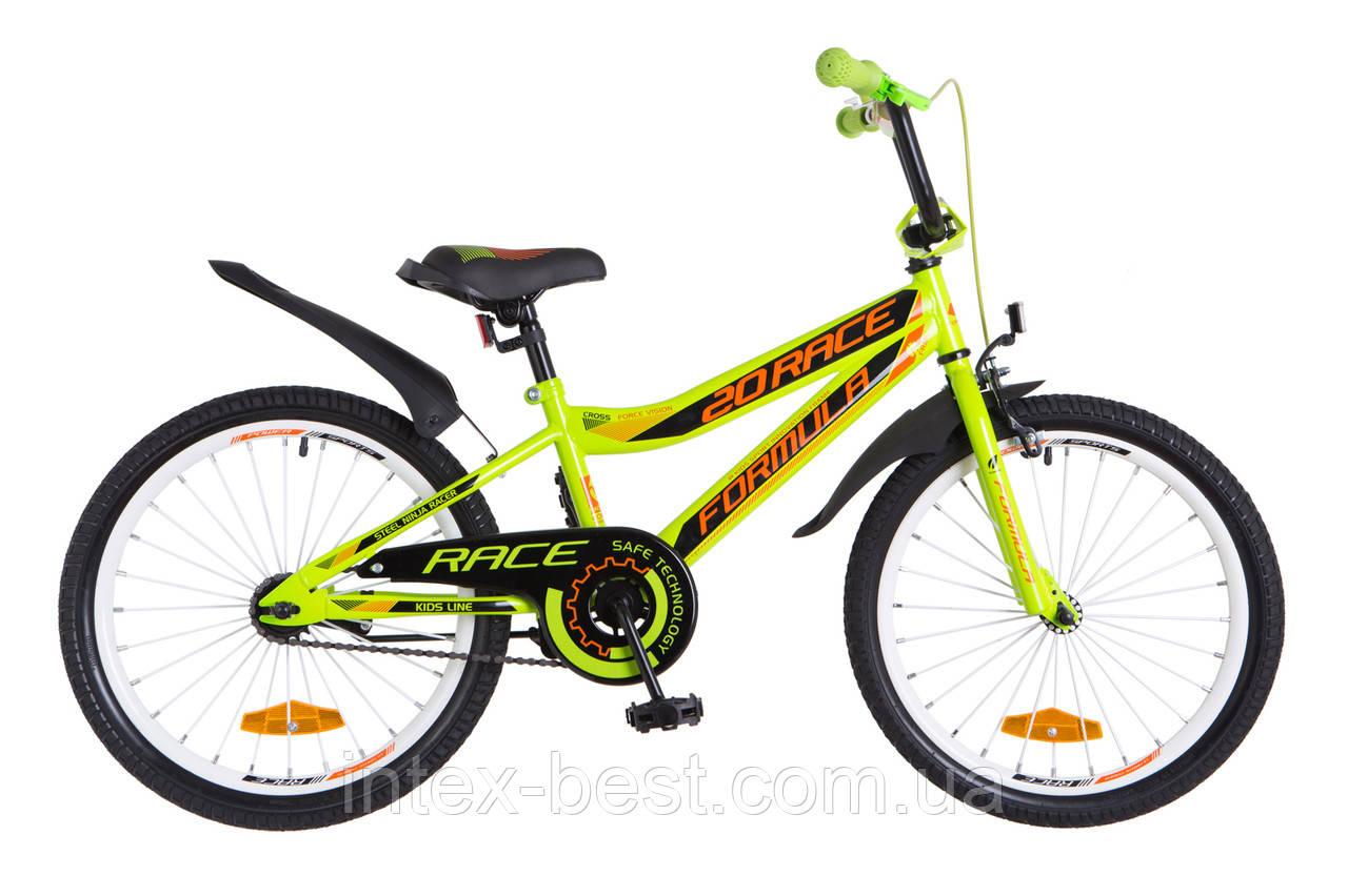 """Велосипед детский двухколесный 20 дюймов FORMULA RACE 20"""" OPS-FRK-20-043"""
