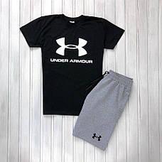 Мужской спортивный комплект (футболка+шорты) в стиле Under Armour 4 вида в наличии, фото 3