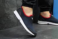 Кроссовки мужские Adidas (синие с белым), ТОП-реплика, фото 1