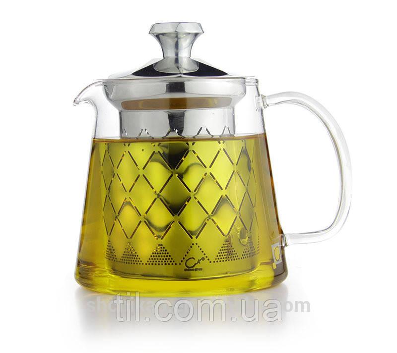 Чайник стеклянный заварочный 480 мл.