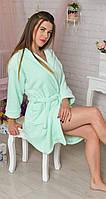 Стильный женский махровый халат оптом и в розницу, фото 1