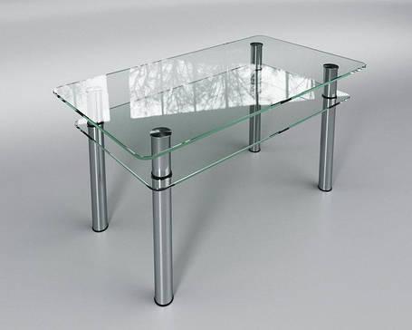 Стол журнальный Вега прозрачный 80х55 (Sentenzo TM), фото 2