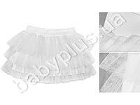 Пышная праздничная юбка Туту. Трикотажная основа с большими фатиновыми рюшами (рост 110-116)