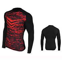 Компрессионная спортивная кофта Radical Rashguard Smite LS красная, мужской рашгард, лонгслив для спорта