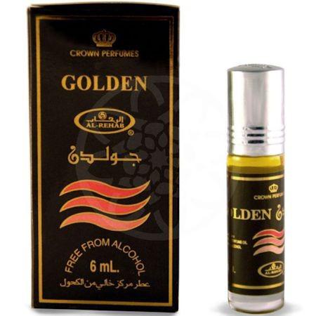 """Арабские масляные духи """"Golden"""" Al-Rehab, 6 мл"""