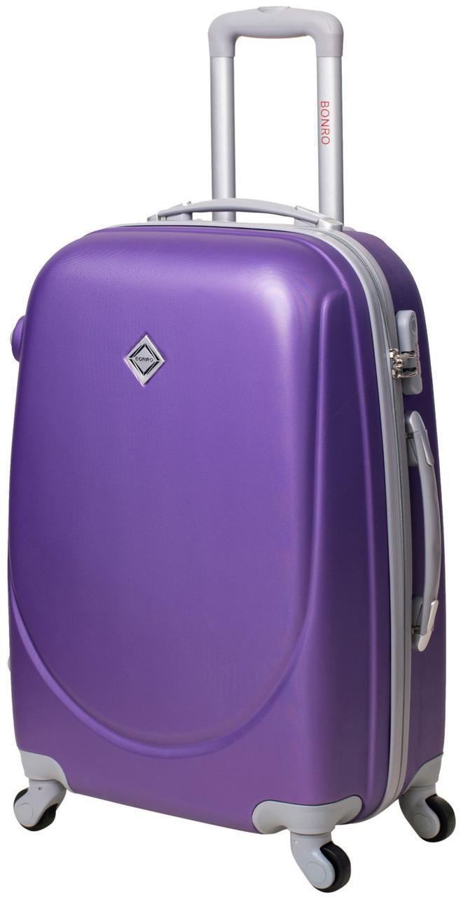 Дорожній валізу на колесах Bonro Smile Фіолетовий Середній